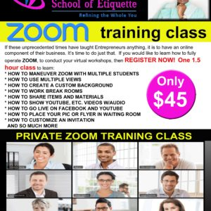 Zoom Etiquette Training Classes
